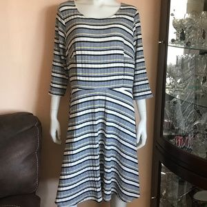 NWOT Modcloth Striped A-Line Dress Lined 2X